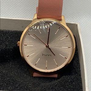 HM Pyper Three-Hand Stainless Steel Watch